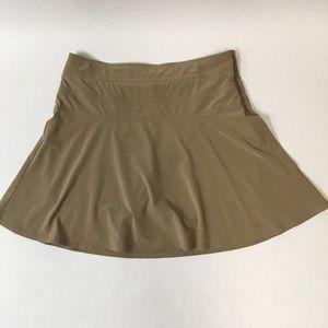 ATHLETA women's mini skirt with shorts size 12